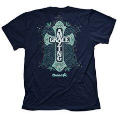 Cherished Girl by Kerusso Christian T-Shirt   Amazing Grace Cross   Free U.S. Shipping
