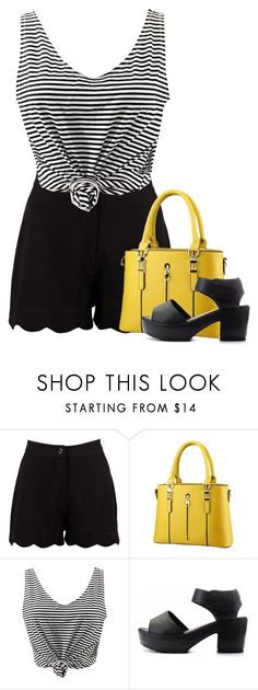 """""""Untitled #1962"""" by tinkertot ❤ liked on Polyvore featuring Boohoo and WithChic"""