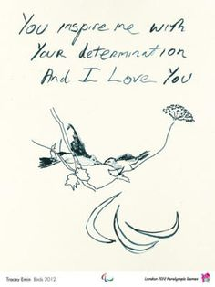 London 2012 Official Poster - Birds 2012  Artist: Tracey Emin