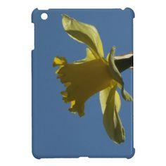 A Yellow Daffodil Against Blue Sky iPad Mini Case #flowers #yellow #spring #daffodil #ipad #mini #cases #zazzle