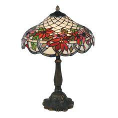 Oaks OT 4125/16 TL Adara 2 Light Tiffany Table Lamp