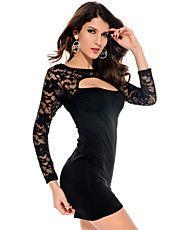 Sexy Cut-out Bodycon Dress Black(Hip:90-104cm... – USD $ 13.99