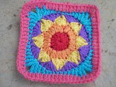 Star bright square  . . . .   ღTrish W ~ http://www.pinterest.com/trishw/  . . . .    #crochet #square