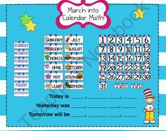 Inexpensive resource for a SMARTBoard interactive calendar. Wonderful for introducing at the beginning of the school year and referring to every morning as part of the morning routine. Particularly useful for lower elementary students.