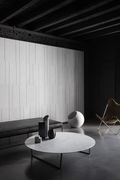 Urano, designed by Elisa Ossino, is a gorgeous sphere carved out of a cube of Bianco Carrara, shedding a soft and romantic light.  Available in diameters of 18 and 30 cm for the table or 50 cm as a floor lamp.