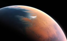 Mars with water, 4 bil years ago.