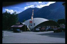 Heinz Isler - Centro Coop in Biasca, Tessin, Switzerland--completed in 1963.