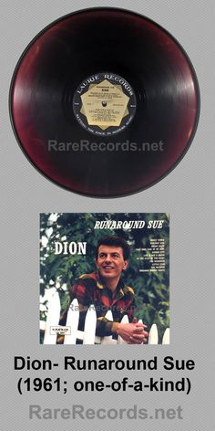 Dion - Runaround Sue (1963)  Rare, possibly one of a kind, pressing on translucent brown vinyl. #records #albums #vinyl #coloredvinyl  Click here to learn more about this record: http://www.rarerecords.net/store/dion-runaround-sue-ultra-rare-brown-vinyl-1961-lp