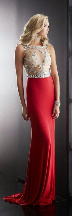 Glamorous red maxi bead embellished top fashion