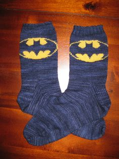 Knitted Batman Socks | Batman socks by BRuppert