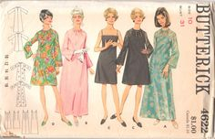 Butterick 4622 1960s Misses Evening A Line Dress by mbchills