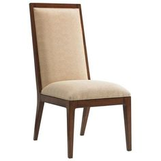 Tommy Bahama Island Fusion Natori Slat Back Fabric Side Chair ($630) ❤ liked on Polyvore featuring home, furniture, chairs, dining chairs, upholstered chair, slatted chair, outdoor dining chairs, fabric dining chairs and outdoor furniture