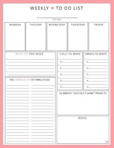 New Photos planner printable inserts Ideas Are you currently ready to get going with printable planner inserts? Week Planner, To Do Planner, Daily Planner Pages, Budget Planner, College Planner, Daily Planners, College Tips, Business Planner, Week At A Glance Printable