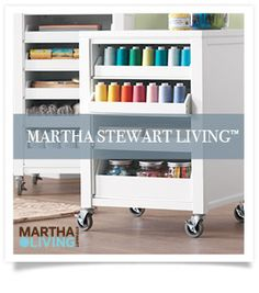 Martha Stewart Living™ Craft Space Cart with Pull-Out Trays - Martha Stewart Living™ Craft Space - Storage And Display | HomeDecorators.com
