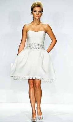 Short and cute wedding dress