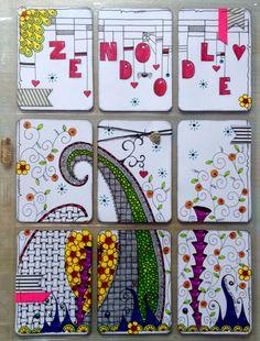 Pocket letter zentangle stijl made by Melanie Mulder
