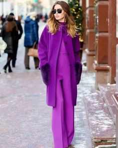 My Positive Style Purple Fashion, Colorful Fashion, Love Fashion, Autumn Fashion, Fashion Looks, Fashion Outfits, Fashion Trends, Colorful Outfits, Purple Outfits