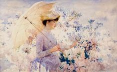 bumble button: A Bit of Lavender and Violet. 19th and Early 20th Century Paintings Of Women