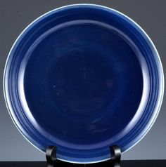 VERY RARE 18thc CHINESE QIANLONG SACRIFICAL BLUE GLAZE DISH PLATE VERMEER Glaze, Porcelain, Chinese, Pottery, Dishes, Antiques, Tableware, Enamel, Ceramica