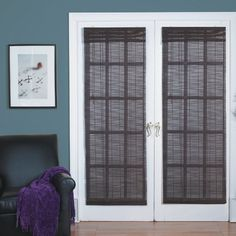 Bamboo Blinds For French Doors radians french door bamboo blind in willow (24 x 72)radians
