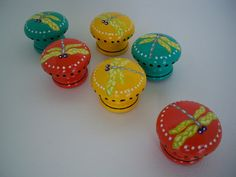 Dragonfly Dresser Knobs Hand Painted by MossyFrog on Etsy, $26.00