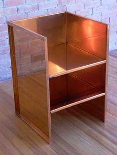 donald judd, armchair#47, copper