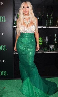 Kim Kardashian mermaid - fancy dress up halloween costume