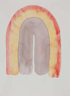 """Anna Sorensen - """"Musik från långt håll/ Distant Music"""", watercolor on paper, 76 x 52 cm"""