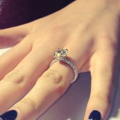 """This gorgeous #laurenb #ring model# RS-126 design has a band that is encrusted with three rows of pave diamonds and a diamond wrap beneath the stone.  As…"""