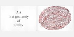 Louise Bourgeois, Art is a Guaranty of Sanity (diptych), 1999 on Paddle8