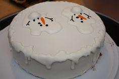 Bakersfield Snowman Cake... Make for Christmas party??