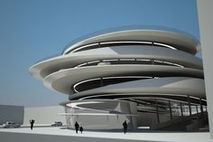 Legendary Architect Zaha Hadid Chosen to Design Miami Beach Parking Garage at Collins Park. Zaha Hadid Architects, Architectes Zaha Hadid, Famous Architects, Futuristic Architecture, Beautiful Architecture, Contemporary Architecture, Landscape Architecture, Interior Architecture, Urban Design