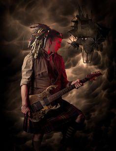 Steampunk guitar player - Abney Park