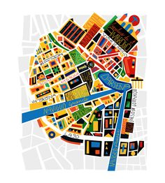 Alberto Lot - Map of Milan for Urban Magazine Milan Map, Map Globe, Ecole Art, Italy Map, Good Day Song, City Illustration, Map Design, Graphic Design, Design Graphique