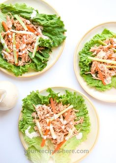Slow Cooker Buffalo Chicken Lettuce Wraps & Giveaway! | TastyThin