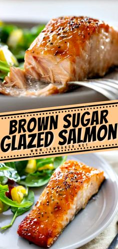Check out this new dinner idea to kick your salmon up a notch! Brown Sugar Glazed Salmon will become your favorite way to prepare this light and flaky cut of fish. Not only is it easy enough to put together for a weeknight dinner, but kids will love it too! Save this best main dish recipe. Salmon Recipes, Fish Recipes, Seafood Recipes, Salmon Meals, Entree Recipes, Easy Dinner Recipes, Cooking Recipes, Easy Main Dish Recipes, Gastronomia