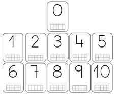 Bingo for Numbers 1-10. Great for preschool number