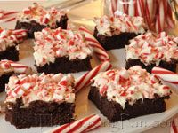 white choc peppermint brownies