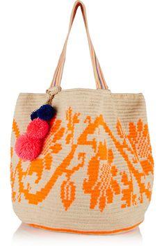 Sophie Anderson | Jonas crocheted cotton tote | NET-A-PORTER.COM