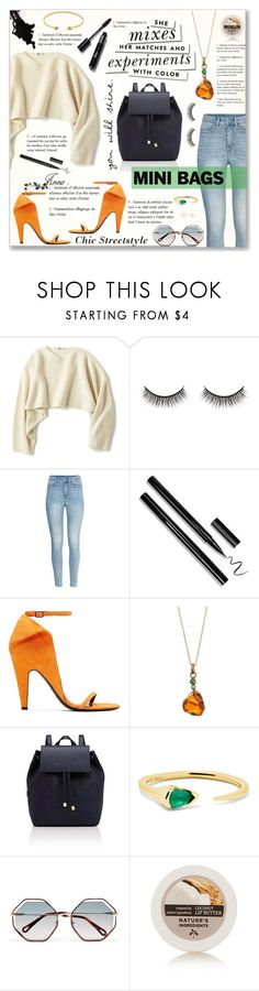 """Mini Backpack"" by stormwlf ❤ liked on Polyvore featuring Uniqlo, Battington, H&M, Calvin Klein 205W39NYC, Barneys New York, Kate Spade, Fernando Jorge, Chloé and Gucci"