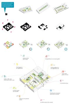 Icons, schemes and infographics on Behance Typology Architecture, House Architecture Styles, Architecture Concept Drawings, Architecture Visualization, Architecture Graphics, Pavilion Architecture, Landscape Architecture, Urban Design Concept, Urban Design Diagram