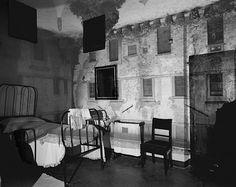 Abelardo Morell : 'Camera Obscura' Castle Courtyard in bedroom, gelatin silver print
