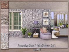 Stone and Brick Patterns by Ung999  http://www.thesimsresource.com/downloads/1191646