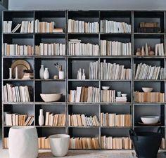 turn books around or on spine since kraft paper seems like sacrilege