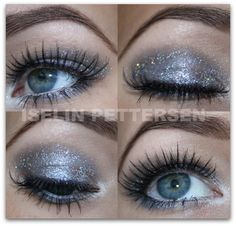 everytime I attempt glitter eyeshadow it goes all over my face! ha ha