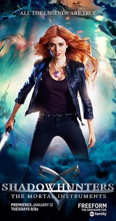 Created by Ed Decter.  With Katherine McNamara, Dominic Sherwood, Alberto Rosende, Matthew Daddario. After her mother is kidnapped, Clary must venture into the dark world of demon hunting in order to find clues that can help her find her mother.