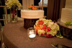 Wedding Cheesecake - Stella's Modern Pantry - Coral Bouquet - Laura Ross Photography