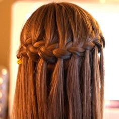 Waterfall Braid for Long Hair #BridalHairstyles