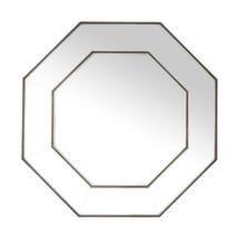 Octogan Silver Mirror