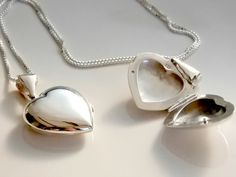 Heart Locket  Necklace Sterling Silver. Large Locket by PetitDepot  For my Mom <3 not ...expensive at all
